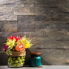 Peel And Stick Tile Self Adhesive Stone Slate Wall Kitchen Backsplash Grey Taupe