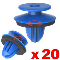 WHEEL ARCH TRIM CLIPS BLUE PLASTIC FOR AUDI Q3 REAR EXTERIOR QUARTER MOULDINGS