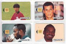 4 TELECARTE / PHONE CARD .. FRANCE 50U PACK SPORT FOOTBALL SOCCER 98 PUCE C.12€
