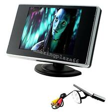 "3.5"" LCD Color Screen Car Video Rearview Monitor Camera For Car Backup AV input"