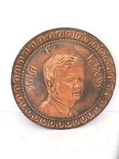 Plat Pièce commémorative Cuivre bruni JOHN FITZGERALD KENNEDY 1963