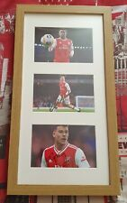 Arsenal Young Guns Framed Photo Display -Signed by Bellerin, Nelson & Martinelli
