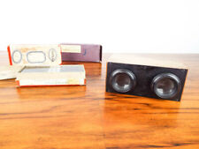 Antique Stereoscope French Slide Viewer & 50 Glass 3D Slides WW1 Era Military