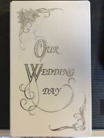 VHS Cassette Box Our Wedding Day Video Case Keepsake White / Gold