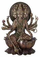 Indian Hindu God Gayatri Mantra God of the Sun Statue Cold Cast Bronze .Veronese