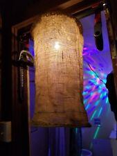 Burlap Hanging Chandelier Light Shade