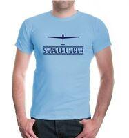 Herren Unisex Kurzarm T-Shirt Segelflieger Segelfliegen Segelflieger Flugsport