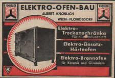 WIEN, Werbung / Anzeige 1940, Elektro-Ofen-Bau Albert Knobloch Härte-Brennofen