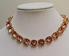 J Crew Pink Blush Crystal Necklace and Bracelet Set