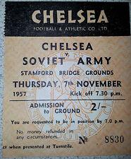 1957 Ticket: CHELSEA v SOVIET ARMY (CSKA) - Rare