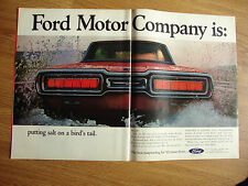 1965 Ford Thunderbird Ad   Putting Salt on a Bird's Tail Splash!