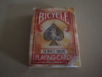 BICYCLE SERIES 1800 RED DECK VINTAGE PLAYING CARDS BY ELLUSIONIST MAGIC TRICKS