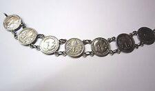 Armband Tracht mit 7 Silbermünzen Kaiser Franz Joseph I in Silber 835 Handarbeit
