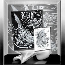 """Tattoovorlagen  Japanische """" Koi """" Karpfen Tattoo Sketchbook Stecil Flash  Buch"""