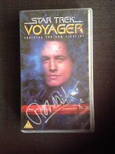 More details for star trek voyager robert beltran signed photo autograph vhs cast and vhs tape