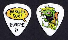Metallica Sux Cartoon Guitar Pick - Europe 2011 Tour