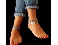 Fußschmuck Fußkette Armband Kette Münzen orientalische Fußkettchen Ethno Vintage
