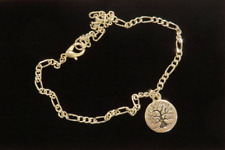 Tree of Life Ankle Bracelet Anklet Silver Plate with Sterling Silver Plate Figar