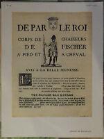 XVIII Affiche de Racolage : De Par Le Roi , Avis 32x24cm Vintage 1952