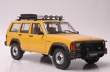 Jeep Cherokee 2500 car model in scale 1:18 yellow