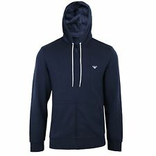EMPORIO ARMANI HOODY MENS NAVY ZIPPED HOODED SWEATSHIRT