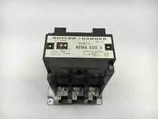 CUTLER HAMMER C10EN3 USED 3P SIZE 3 120V COIL CONTACTOR SEE PICTURES #C5