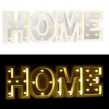 "Lunartec LED-Schriftzug ""HOME"" aus Holz & Spiegeln mit Timer & Batteriebetrieb"
