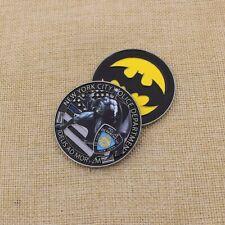 NYPD Police Fidelis Ad Mortem BATMAN DC Comics CHALLENGE COIN Medallion NYC