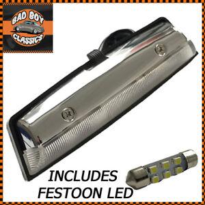 Chrome Interior Lamp Light On / Off Switch BHA5138 + LED Bulbs MGB, MIDGET