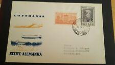 EF 34/ Lufthansa Erstflugbeleg Recife-Deutschland Brasilien