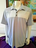 Mens Adidas Climacool Casual Athletic Polo Golf Shirt Short Sleeve SS Large L ⛳️