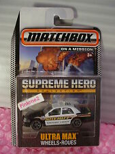 2015 Matchbox Supreme Hero '06 FORD CROWN VICTORIA☆Black/White; SHERIFF KOOTENAI