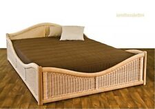 Korbbett Rattanbett Geflechtbett 180x200 cm Doppelbett Ehebett sehr stabil