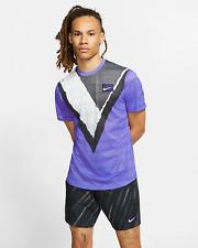 Nike NikeCourt Challenger Men's Short-Sleeve Tennis Top s Purple Volt Shirt New