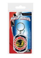 Power Rangers porte-clés caoutchouc T-Rex Morphin Badge 5 cm keychain 38625