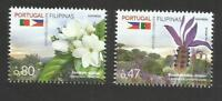 PORTUGAL 2016 Flowers Flora Plants joint Issue Philippines Flag Stamp set 2v MNH