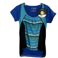 Moxie Cycling Womens Size S Contour Wrap Jersey Run Yoga NWT $69