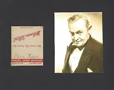 BARRY FITZGERALD GOING MY WAY RARE VINTAGE SIGNED MATCHBOOK AUTOGRAPH +++ w/COA