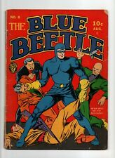 Blue Beetle #8 VINTAGE Fox Feature Comic Save America from Nazis! Golden Age 10c