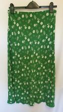 Next Green Floral Print Midi Skirt Size