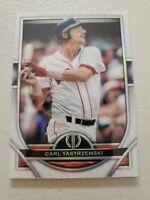 Carl Yastrzemski 2021 Topps Tribute Baseball Card #78 Boston Red Sox