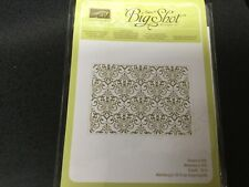 Stampin Up!  Textured Impressions Embossing Folder LACY BROCADE