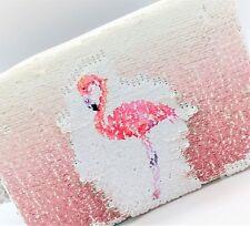 Magic Reversible Sequin Pink Flamingo Purse by LEONARDO