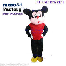 Mickey Mouse cartoon fur big mascot costume for b'day party Halloween