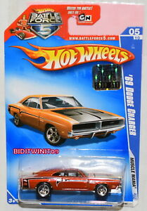 Hot Wheels 2009 Muscle Mania '69 Dodge Chargeur # 05/10 Orange Usine Scellé