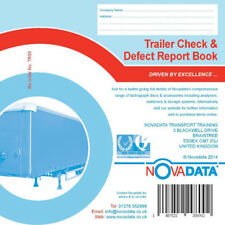 Trailer Check & Defect Report Books Pad 50 Duplicate pages