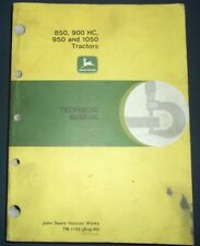 John Deere 850 900Hc 950 1050 Tractortechnical Service Shop Repair Manual Tm1192