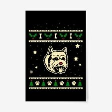 """Christmas Norwich Terrier Gift Poster - 24""""x36"""""""