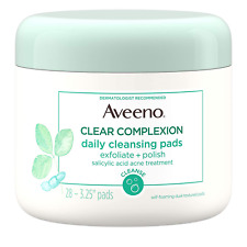 Aveeno Clear Complexion Daily Facial Cleansing Pads with Salicylic Acid Acne Tre