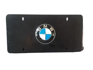 3D Stainless Steel License Plate Frame BMW Emblem License Tag Accessory Black